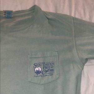 blue southern fried cotton t shirt